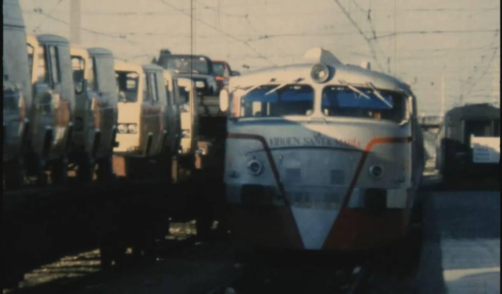 Talgo en el que Pasionaria llega a Córdoba en 1977.