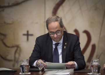 El presidente de la Generalitat, Quim Torra, en una imagen tomada esta semana.