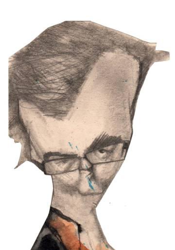 Javier Cercas, visto por Sciammarella.