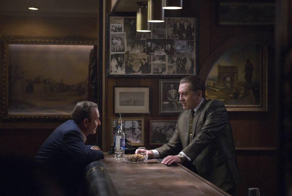 Joe Pesci y Robert De Niro, en un fotograma de 'El irlandés'.