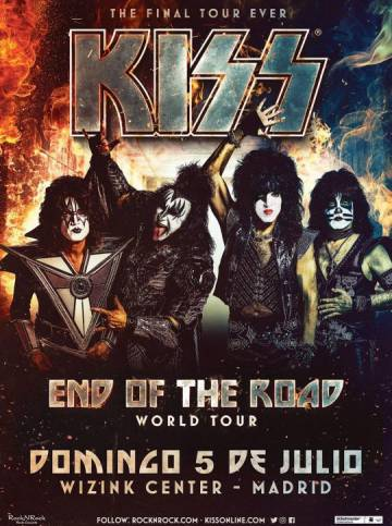 Kiss announces his farewell and one last concert in Madrid for May 2020