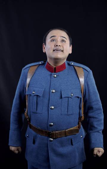 Javier Camarena, in 'The Daughter of the Regiment', at the Teatro Real in 2014.