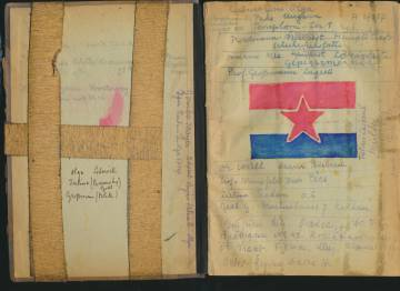 Manuscript of the novel that Eddy de Wind wrote in the Auschwitz camp.