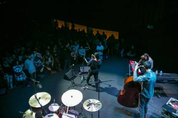 An image of the Nubya Garcia concert at the Conde Duque Center in Madrid.
