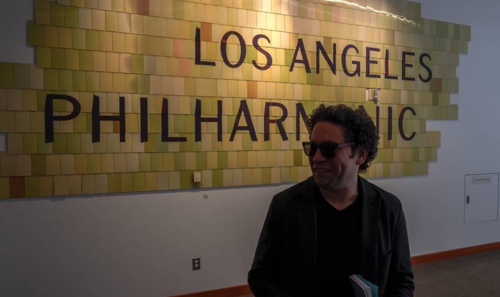 Gustavo Dudamel, in the halls of the Disney Concert Hall.