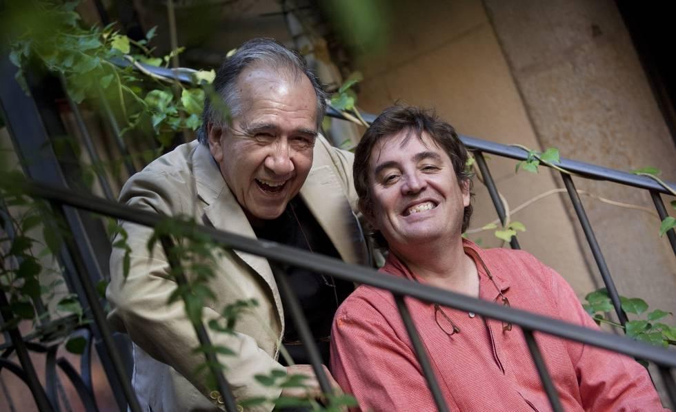 Joan Margarit y Luis García Montero en el Festival Internacional Barcelona Poesia 2011.