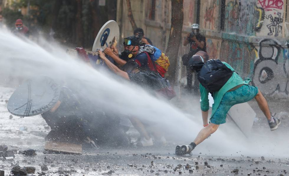 Protesta en Chile contra el Gobierno, el miércoles pasado.
