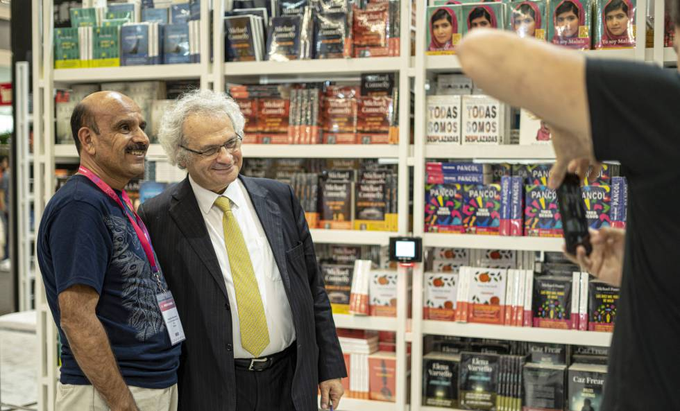 The writer Amin Maalouf poses for a photo.