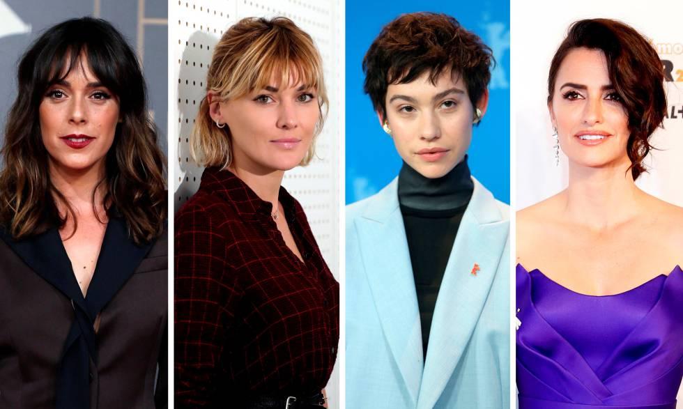 Las nominadas a mejor actriz. Belén Cuesta, Marta Nieto, Greta Fernández y Penélope Cruz. // EFE