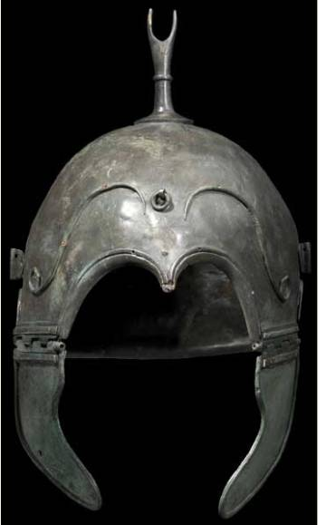 Celtiberian warrior helmet that was part of the pillaged collection in Aranda de Moncayo.