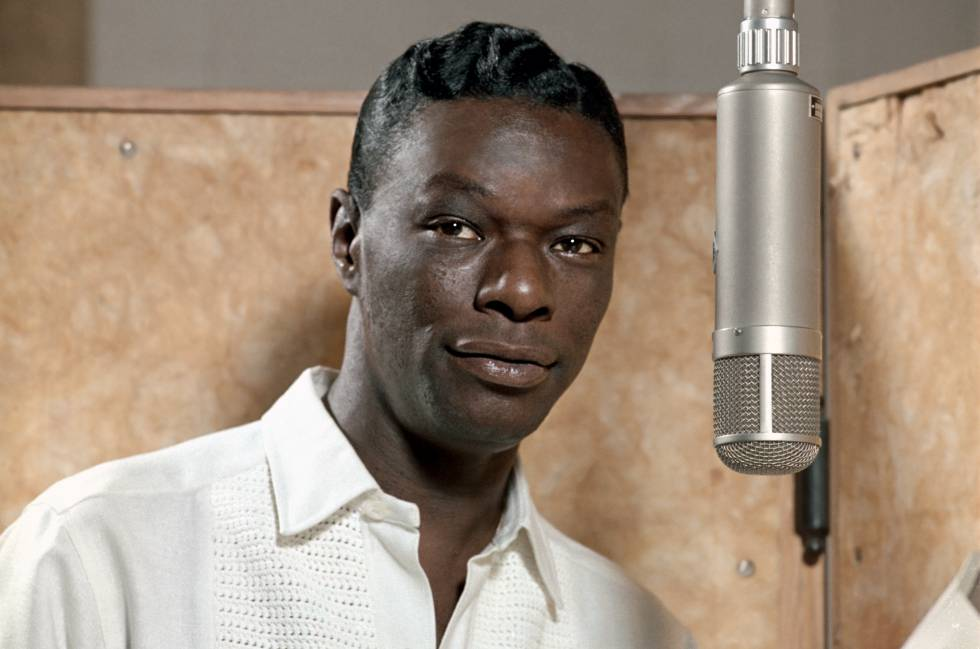 El músico de jazz Nat King Cole.