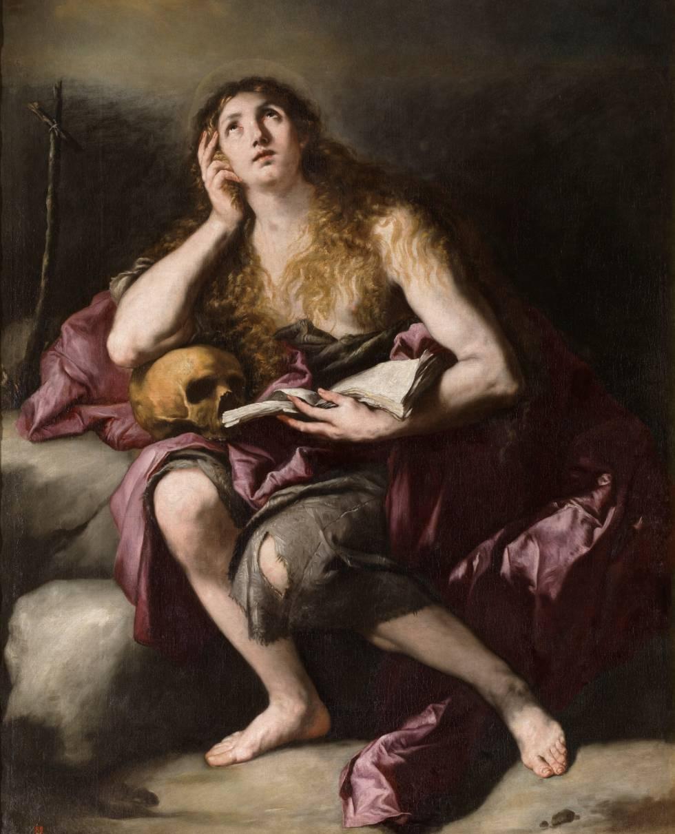 'La Magdalena penitente', by Luca Giordano, around 1665, in the Prado.