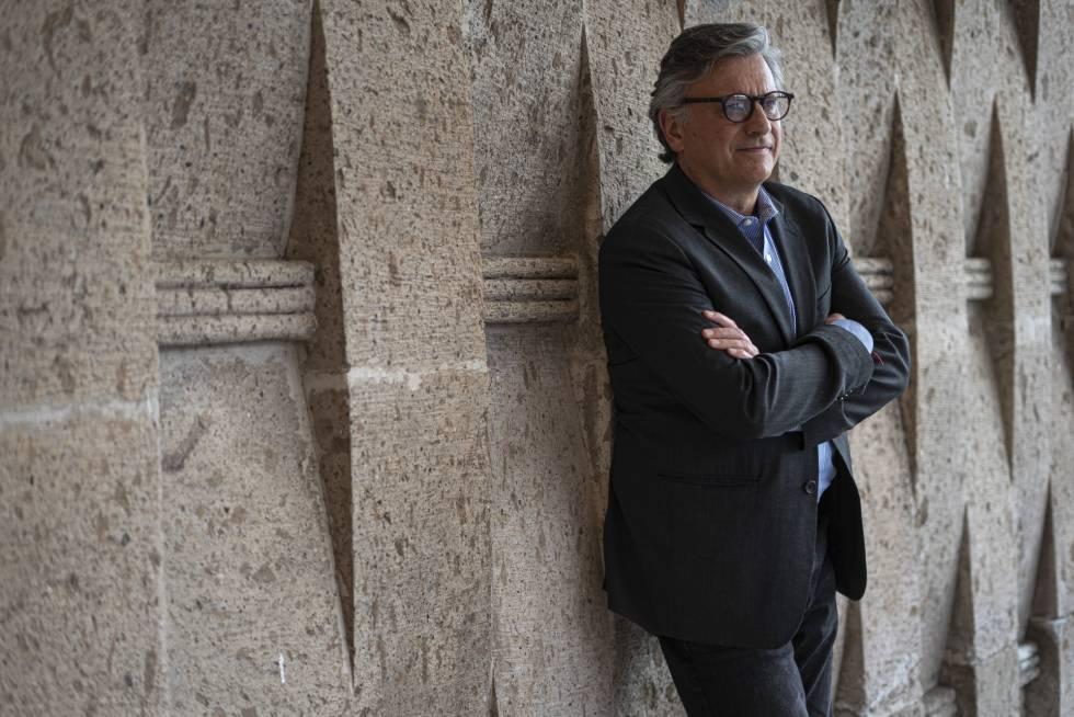 Roberto Banchik, director del grupo editorial Penguin Random House en México, en la FIL