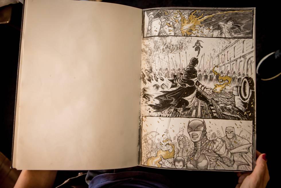 Las escenas a partir de las cuales Grampa y Frank Miller crearon Dark Knight Returns: The Golden Child.