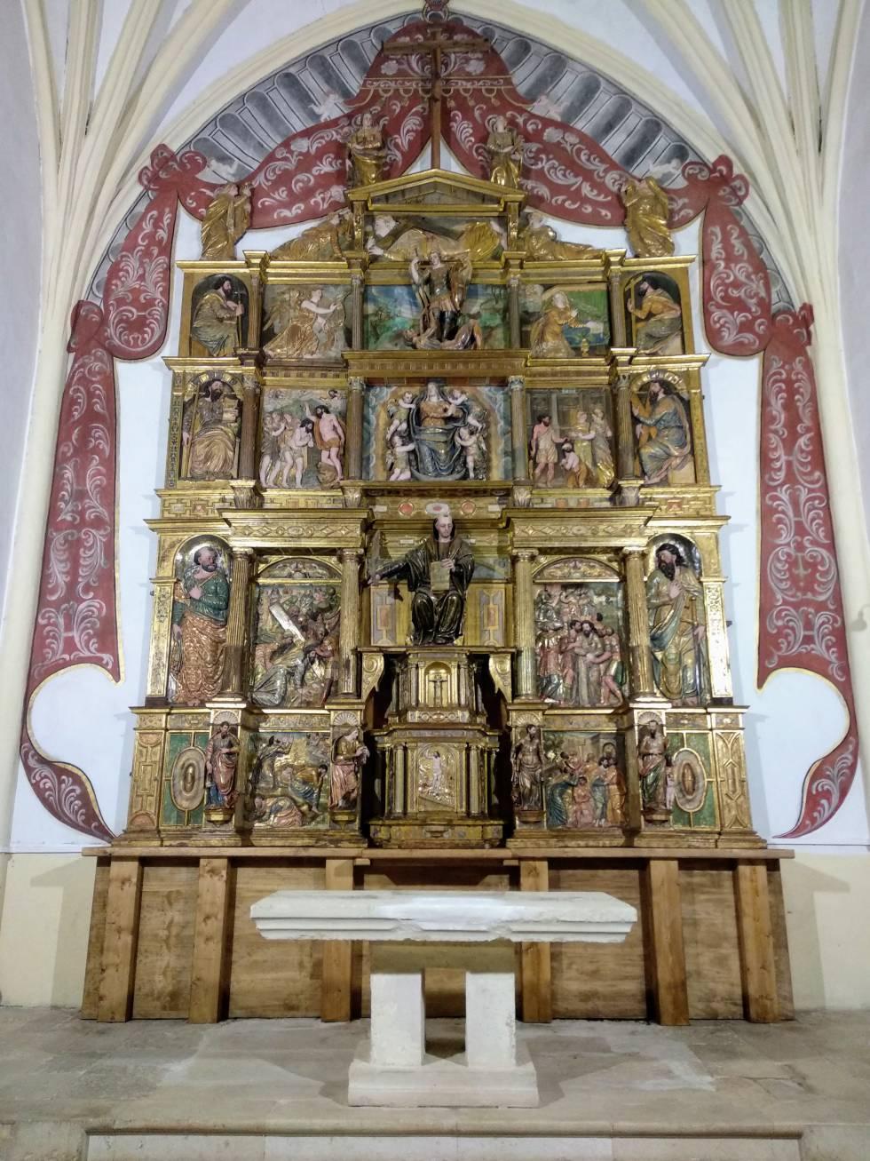 Retablo de Quintanilla de Riofresno (Burgos) restaurado.