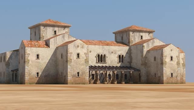 Reconstrución digital del palacio de Teodomiro, en Ribarroja.