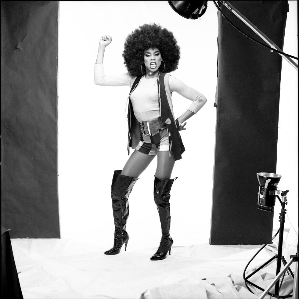 RuPaul during a photo shoot in New York in 1990