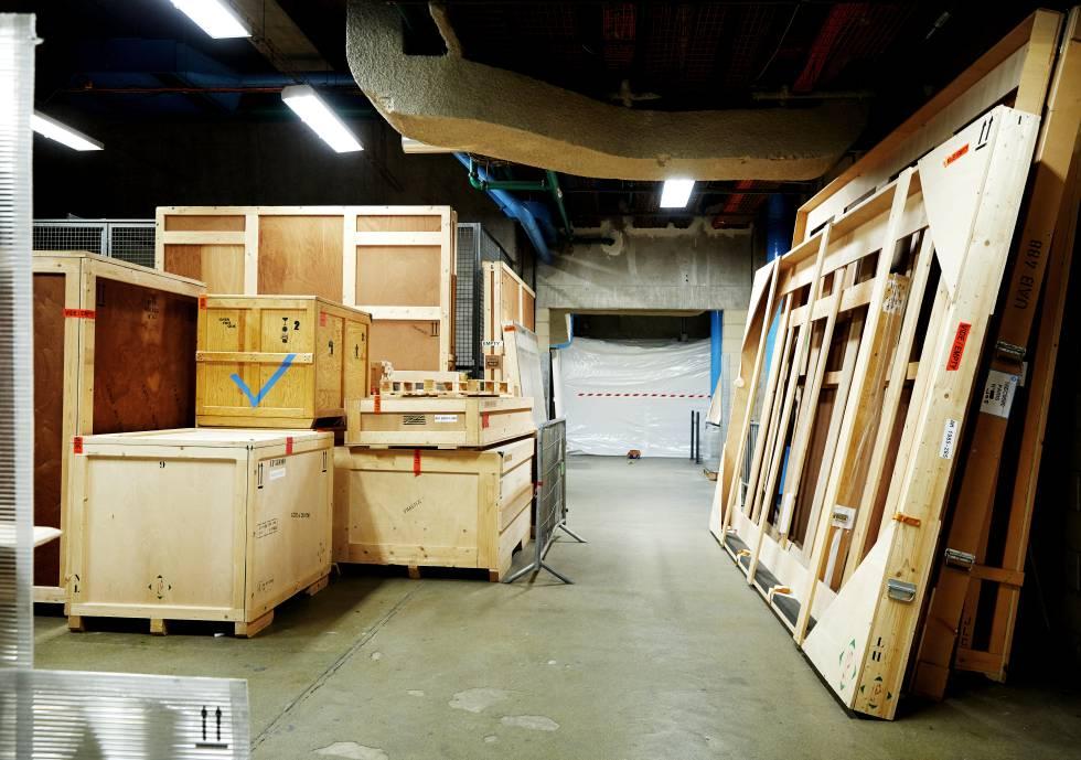 Warehouse of Pompidou.