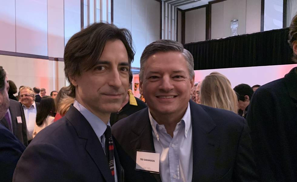 The director Noah Baumbach and the head of Netflix content, Ted Sarandos.