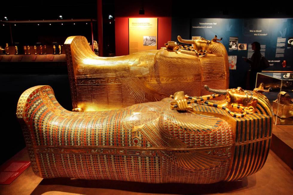 Imagen de la exposición de réplicas de la tumba de Tutankamón que apadrina Hawass, en Ifema.