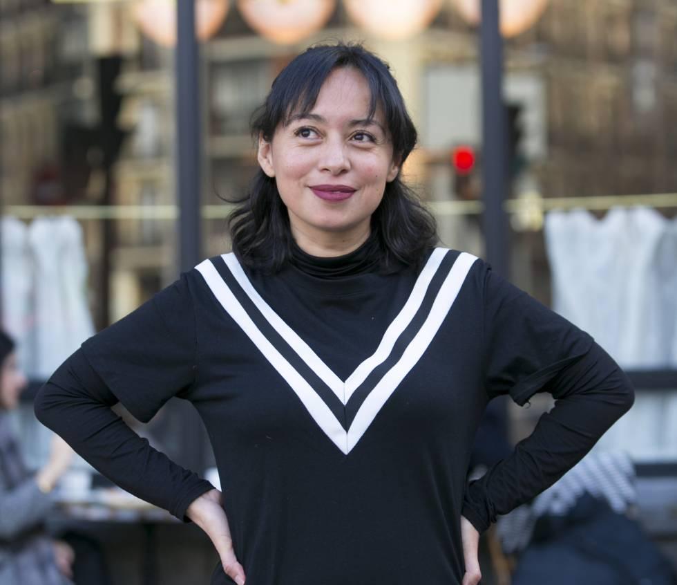 La escritora Brenda Navarro, el pasado viernes en Madrid.