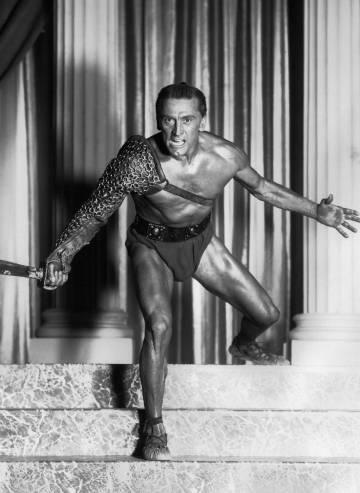 Douglas, como Espartaco, en 1960.