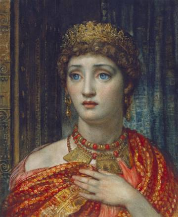 'Helena', acuarela de Edward John Poynter de 1887 que figura en la exposición.