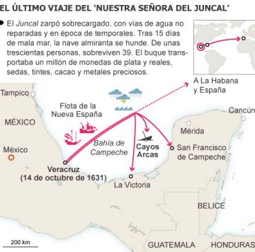Spain and Mexico set course for the treasure of the galleon 'Juncal'