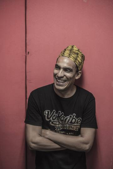 Walter Hernandez, member of the Afro-Caribbean band Systema Solar.