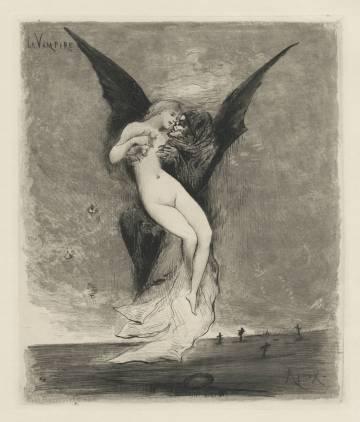 Illustration by Joseph Apoux 'Le Vampire' (1890).