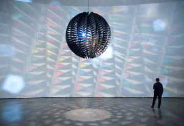 One of the pieces of the exhibition 'Olafur Eliasson: in real life'.