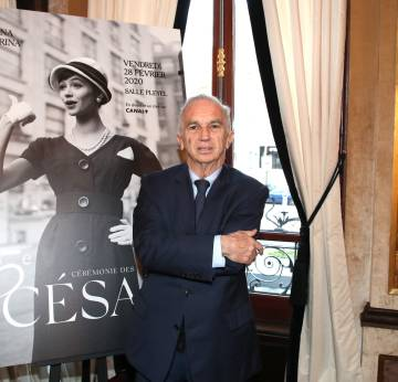 Terzian, at the press conference in which the nominations of the César were announced, on January 29, in Paris.