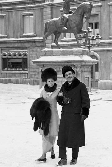 Geraldine Chaplin y Omar Sharif, en 'Doctor Zhivago'.