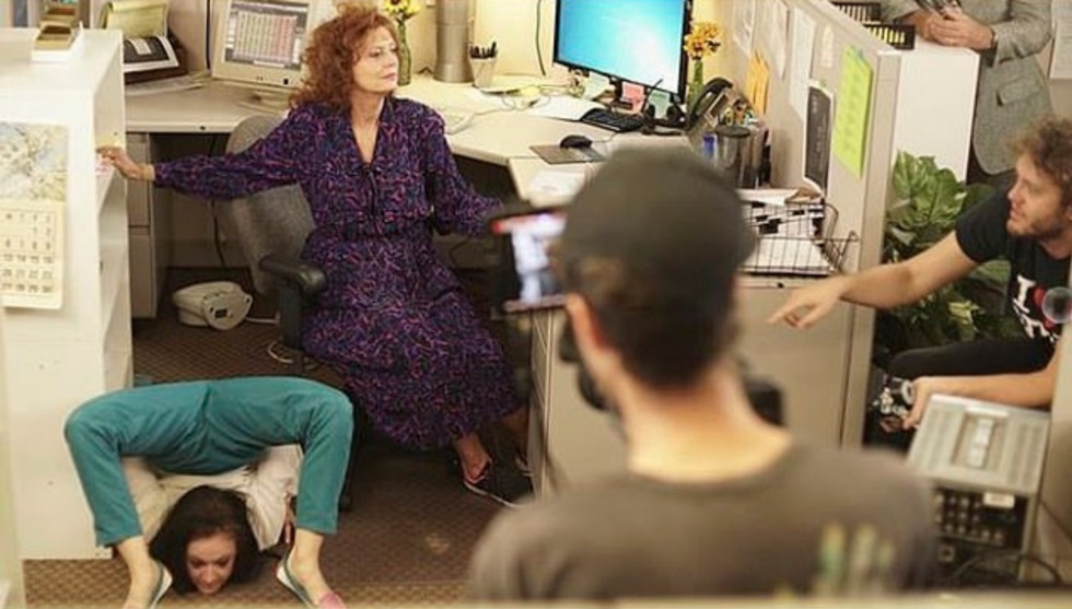 Susan Sarandon and Tim Robbins return to the eighties shooting a comedy on VHS tapes