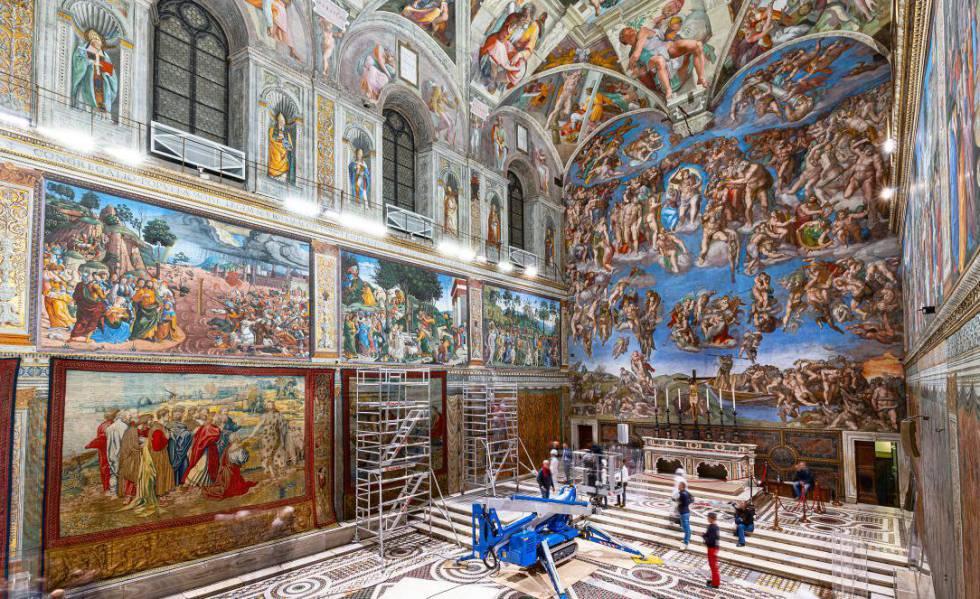 Los tapices de Rafael regresan a la Capilla Sixtina más de 400 años después  | Cultura | EL PAÍS