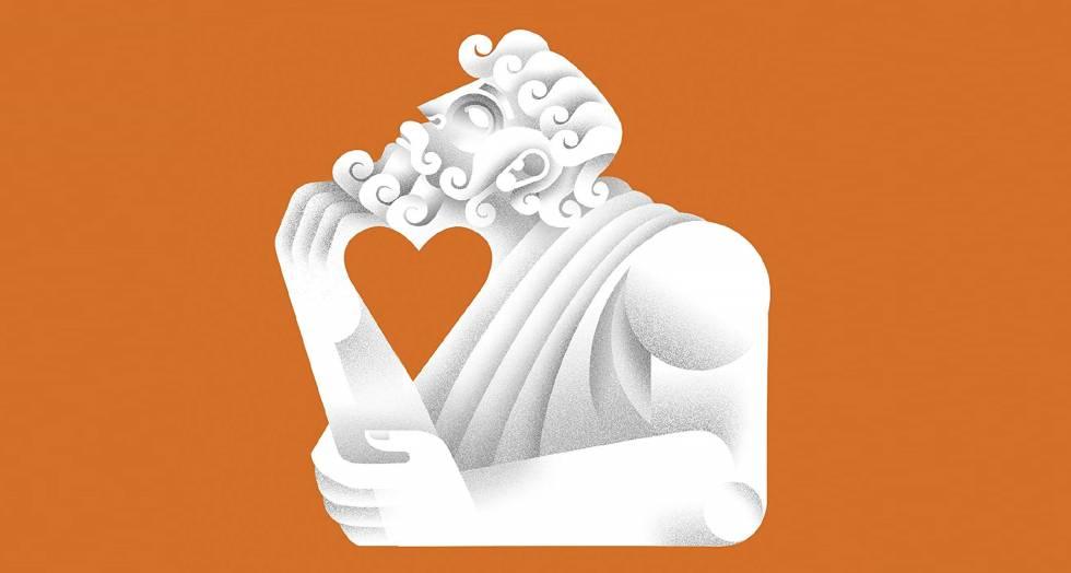 Detalle de la portada de 'Sócrates enamorado'.