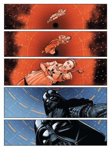The best page of 'Star Wars: Darth Vader' melts Luke's fall into the abyss of 'The Empire Strikes Back' with Padme's.