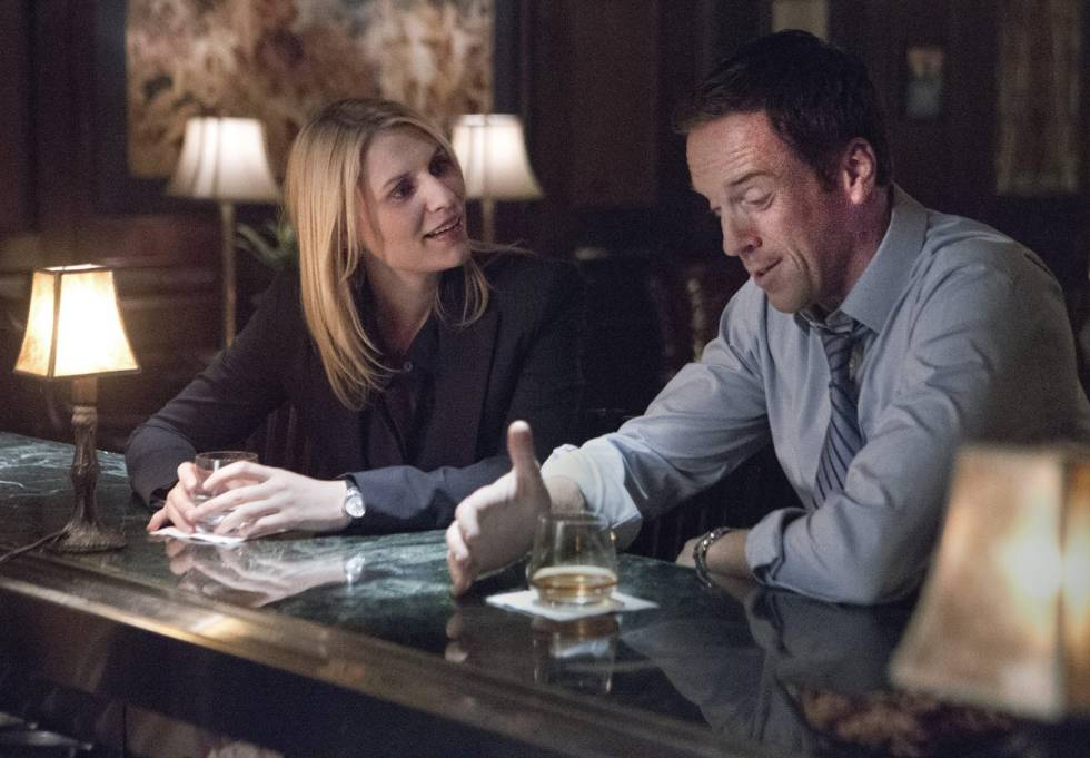 Claire Danes and Damian Lewis, in the second season of 'Homeland'.