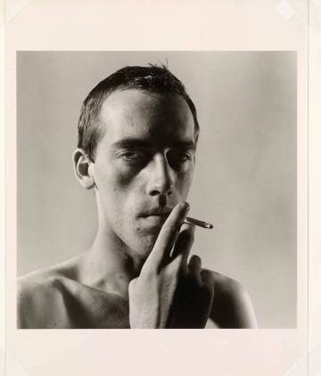 Portrait of artist David Wojnarowicz by photographer Peter Hujar, in 1975. Both died of AIDS.