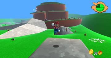 Image of 'Mario 64', one of the games used by Redolar in his studies.