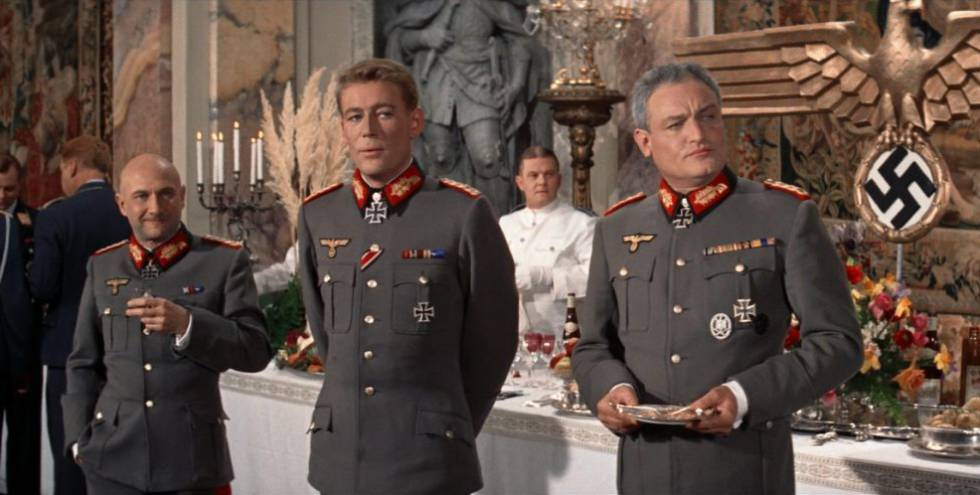 Donald Pleasence, left, in 'The Night of the Generals'.