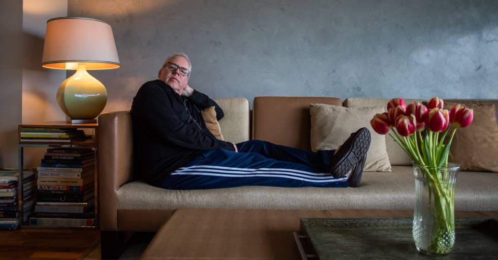 Bret Easton Ellis, el martes pasado, en su casa de Los Ángeles.