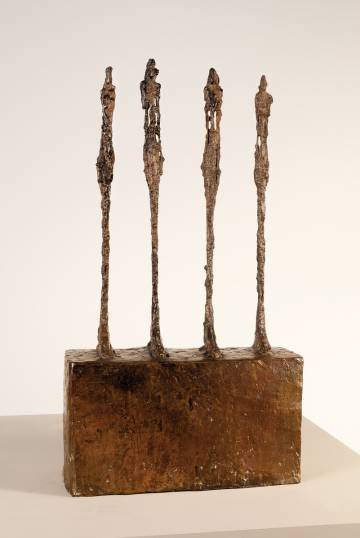 The work 'Four women on a base' (1950), by Alberto Giacometti, kept at the Museum of Modern Art in Rio de Janeiro.