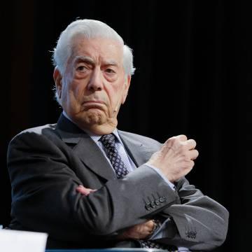 Mario Vargas Llosa, en febrero en Madrid.