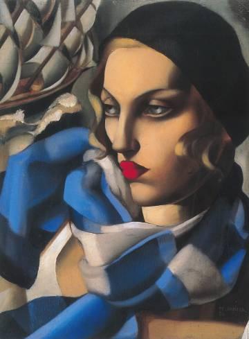El óleo 'La bufanda azul' (1930), de Tamara de Lempicka.