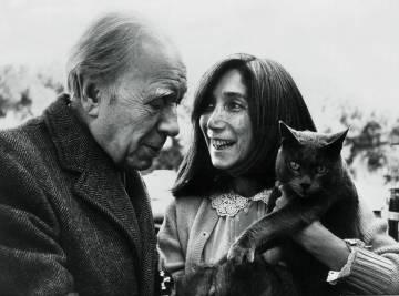 Jorge Luis Borges y María Kodama, en los años setenta.