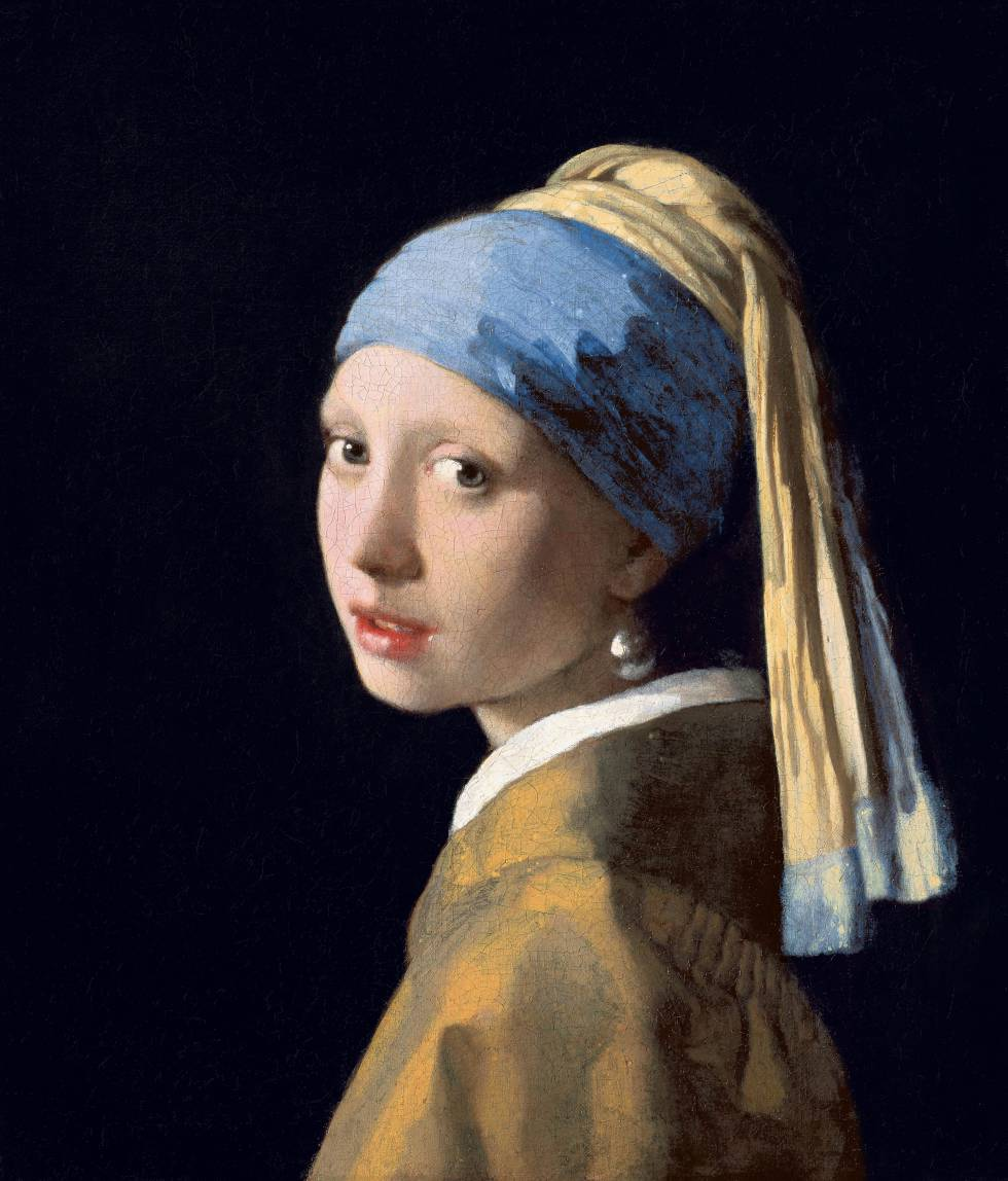 'La joven de la perla', de Vermeer, conservada en la Mauritshuis de La Haya (Países Bajos).