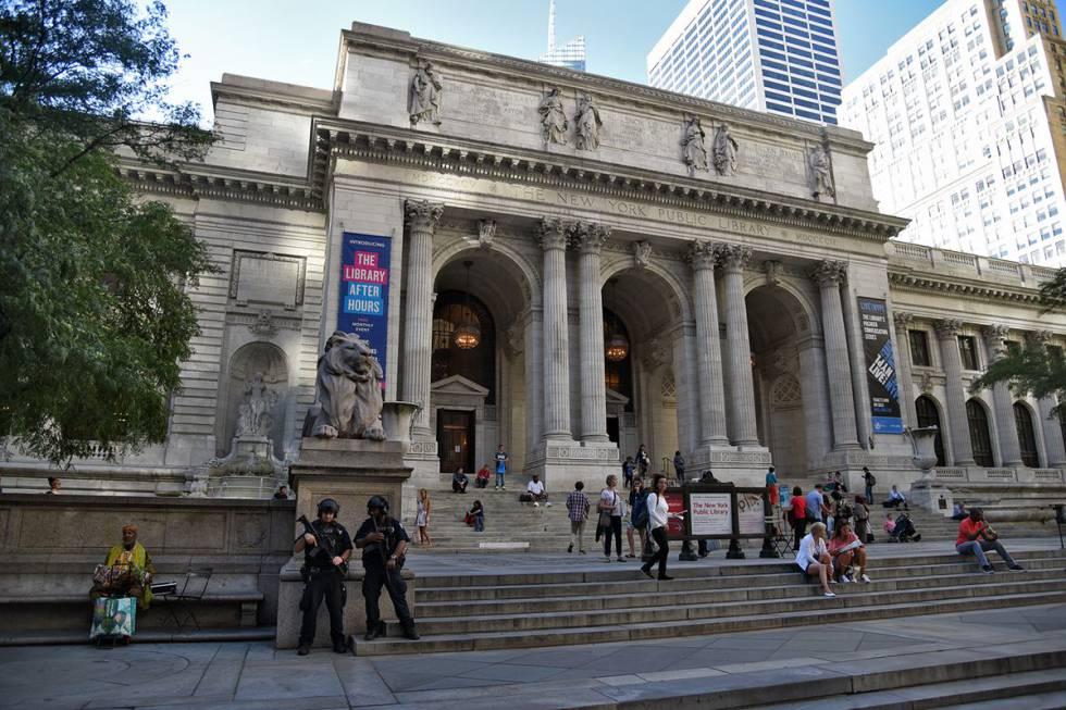 La fachada de la Biblioteca Pública de Nueva York, en el documental 'Ex libris'.