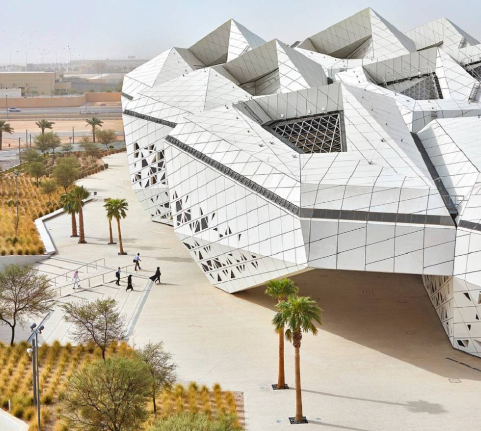 King Abdullah Petroleum Research Center in Riyadh, Saudi Arabia, opened posthumously in December 201, following the death of Zaha Hadid.