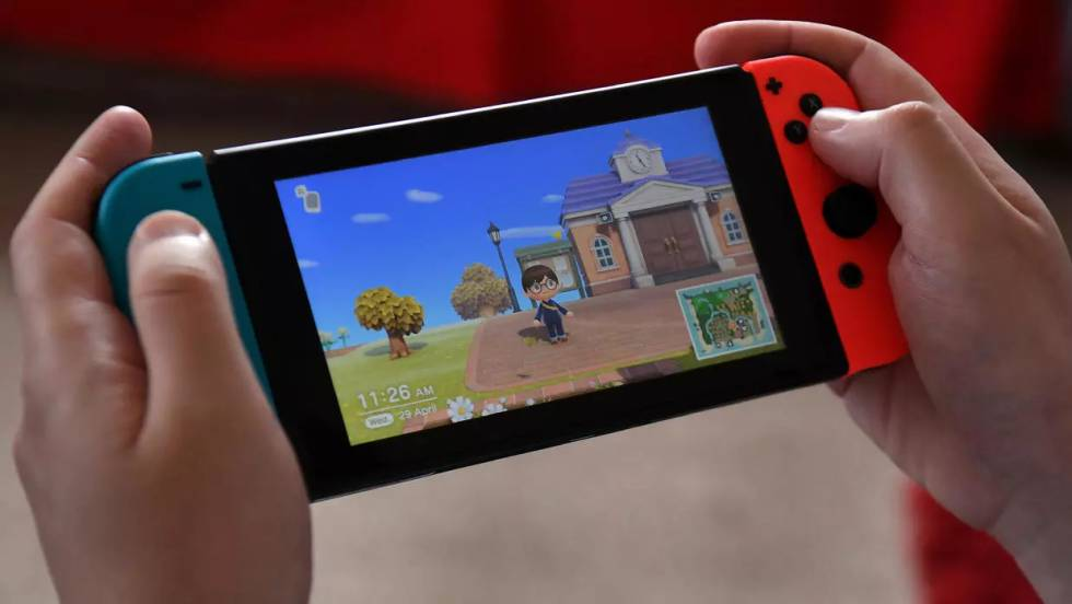The video game 'Animal Crossing: New Horizons', in its version for Nintendo Switch.